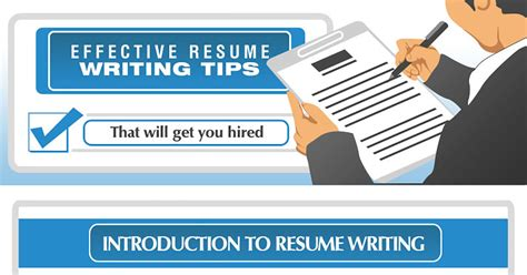 Effective Resume Writing by Effective Resume Writing Tips Infographic