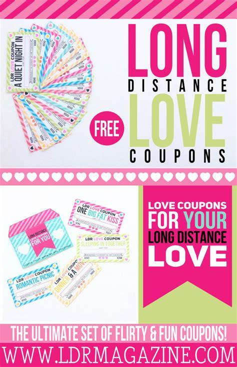 Long Distance Love Coupons  Free Printable!  Ldr Magazine