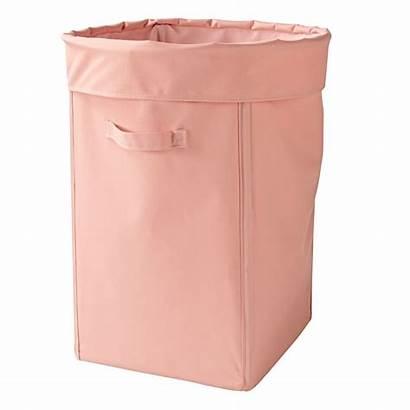 Canvas Pink Hamper Laundry Storage Landofnod