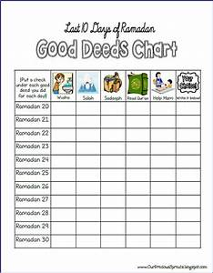 Ramadan Good Deeds Chart Our Precious Sprouts 39 Homeschool Journal Last 10 Days Of