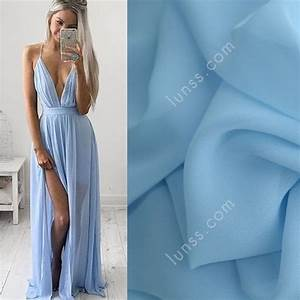 Discount Sky Blue 100D Polyester Chiffon Fabric for Sale