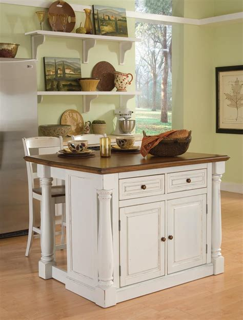 monarch kitchen island home styles monarch kitchen island and two stools 4268