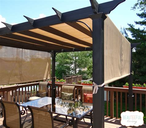 our new pergola shade at last beauteeful living