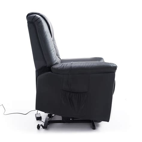 homcom lift chair power recliner electric leather assist