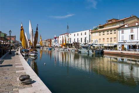It is based in matosinhos. View Of The Porto Leonardesco Canal Of Cesenatico On A Summer Day, Emilia Romagna Editorial ...