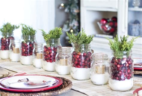 decorate  christmas table  herbs