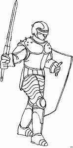 Ritter Mit Schild Und Schwert Ausmalbild Malvorlage