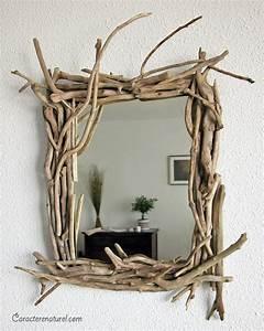 Miroir Bois Flotté : caract re naturel miroir en bois flott ~ Teatrodelosmanantiales.com Idées de Décoration