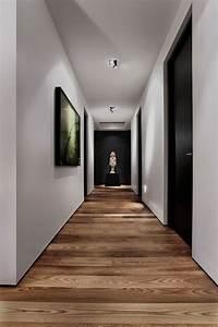 Parquet Stratifié Noir : id es d am nagement d 39 int rieur en bois mobilier et ~ Edinachiropracticcenter.com Idées de Décoration