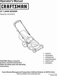 Craftsman 247370370 User Manual Mower Manuals And Guides