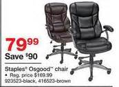 staples osgood bonded leather managers high back chair