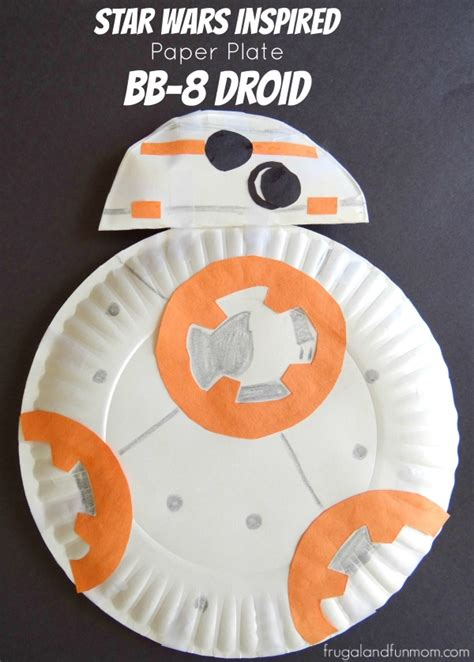 star wars inspired paper plate bb  droid craft fun