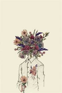 Drawn vintage flower tumblr art - Pencil and in color ...