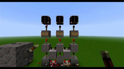Minecraft Redstone Vertical Reverse Order Deactivation