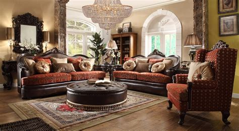 Hd 6903 Homey Design Upholstery Living Room Set Victorian