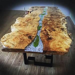 Table En Bois Et Resine : epoxy table epoxy furniture pinterest r sine resine epoxy et poxy ~ Dode.kayakingforconservation.com Idées de Décoration