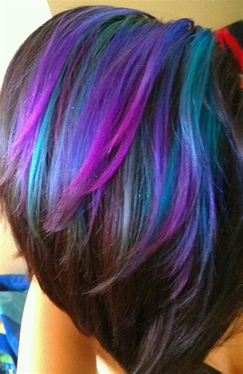 What Colors Go With Hair by Best 25 Teal Highlights Ideas On Teal Hair