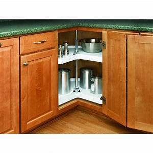 Shop Rev-A-Shelf 2-Tier Plastic Kidney Cabinet Lazy Susan
