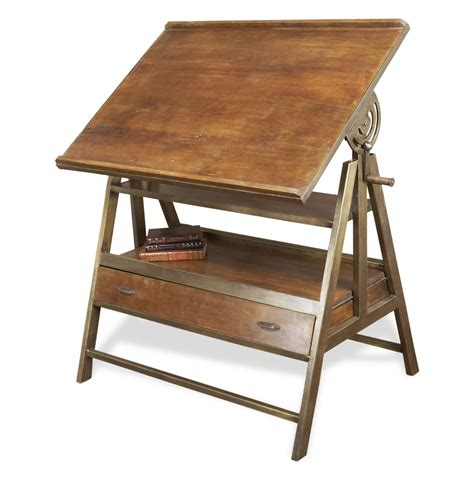 artist loft desk draftsman s industrial loft wood iron desk table