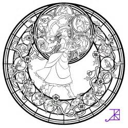 Disney Stained Glass Coloring Pages