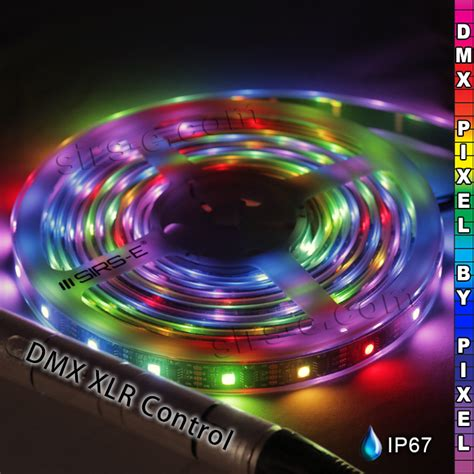 Dmx Led Strip Pixel Rgb Sirs Pixeldmx Controlled