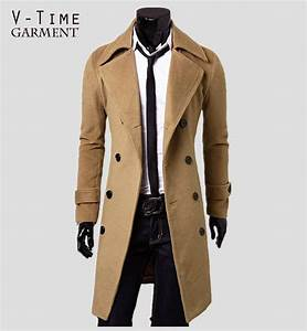 2015 New Arrival Fashion Winter Trench Coat Men Autumn Windproof Casual Outwear Sloid Color Mens ...