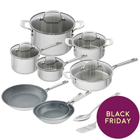 emeril lagasse piece stainless steel cookware set  view     cookware