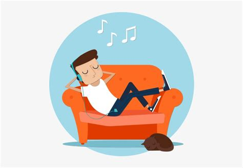 We promote new music to music fans. Free Soundcloud Promotion - Listening To Music Illustration Png PNG Image | Transparent PNG Free ...