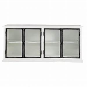 Buffet Blanc Maison Du Monde : buffet en bois blanc l 190 cm ostende maisons du monde ~ Teatrodelosmanantiales.com Idées de Décoration