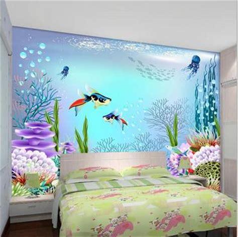 custom  wallpaper children room big blue ocean