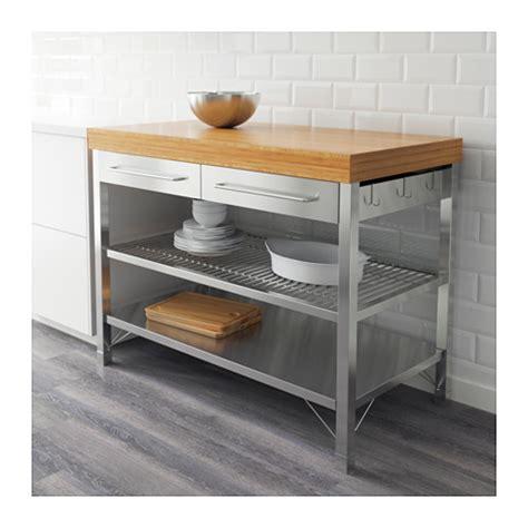 etag鑽e de cuisine rimforsa rangement av étag armoire établi couleur acier inox acier inoxydable bambou appartements et cuisines