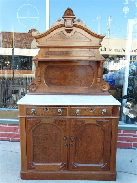 Marble Sideboards by Antique Walnut Marble Top Sideboard Buffet