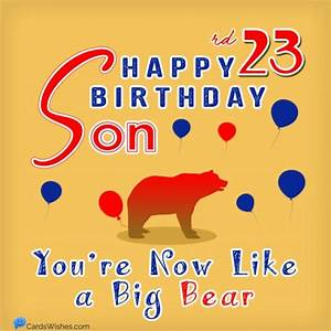 23rd, Birthday, Wishes, For, 23-year-olds