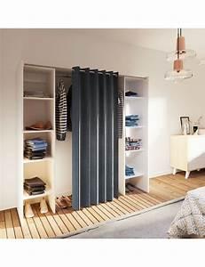 Tringle Pour Dressing : armoire extensible dressing 2 avec rideau ~ Premium-room.com Idées de Décoration
