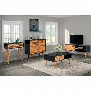 Mobilier De Salon : acheter vidaxl mobilier de salon 4 pi ces bois d 39 acacia ~ Teatrodelosmanantiales.com Idées de Décoration