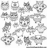 Owl Coloring Pages Owls Whimsical Colorpagesformom Adult Designs Colouring Henna Books Crafts Awesome Drawing Easy Sheets Printable Lots Adults Funny sketch template