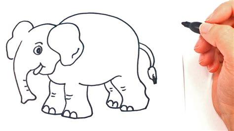 como dibujar  elefante paso  paso dibujo facil de elefante youtube