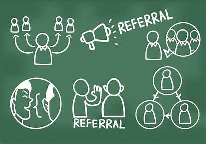 Referral Vector Referrals Icons Hand Drawn Clipart