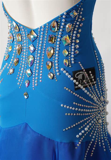 Dazzling Paisley Latin Dance Competition Dress L5275 ...