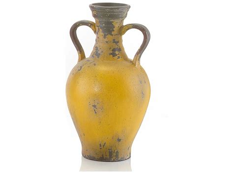 john richard medium yellow tuscan pottery urn jrjra