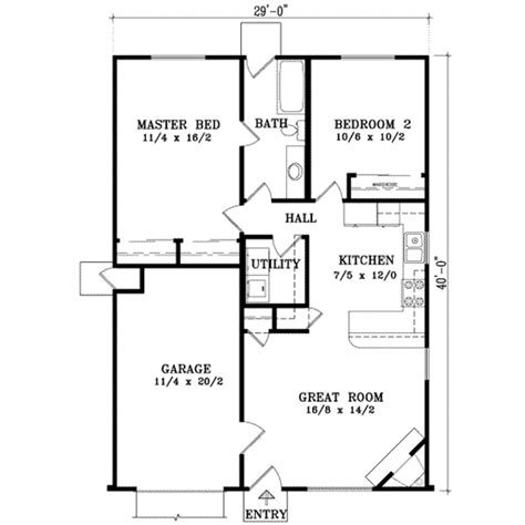 Highland Homes Floor Plans 921 by Ranch Style House Plan 2 Beds 1 00 Baths 921 Sq Ft Plan
