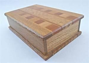 Vintage, Natural, Wood, Rectangular, Box, Marquetry, Wooden, Inlaid, Storage, Case, Mosaic, Sovereign