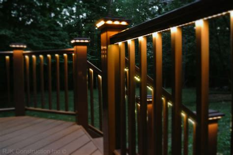 deck railing lights ideas deck with rail lighting traditional porch dc metro by rjk construction inc