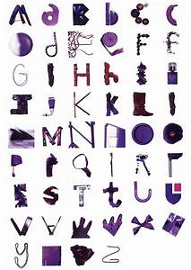 17 best images about typography with objects on pinterest With alphabet letters with objects