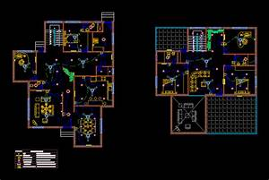 Electrical Layout Of A Villa In Autocad