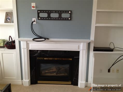 tv wall mount installation  wire concealment