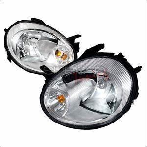 Spec D Euro Head Lights Chrome Dodge Neon 2003 2005