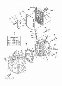 2003 Yamaha Cylinder Crankcase 2 Parts For 8 Hp F8mshb