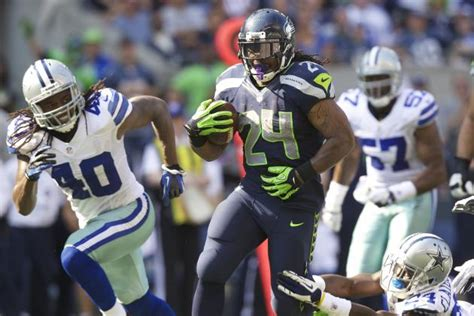 cowboys  seahawks marshawn lynch enters beast mode