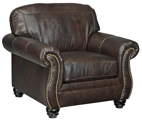 traditional leather match chair  rolled arms